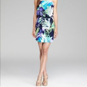 Laundry by Shelli Segal tropical strapless dress
